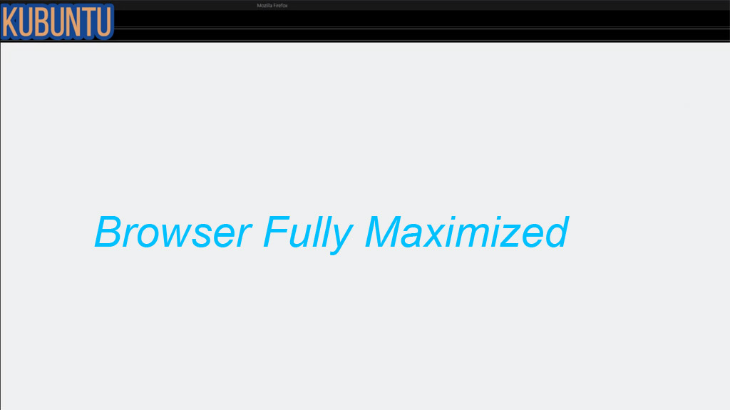 Fully Maximized Browser Window