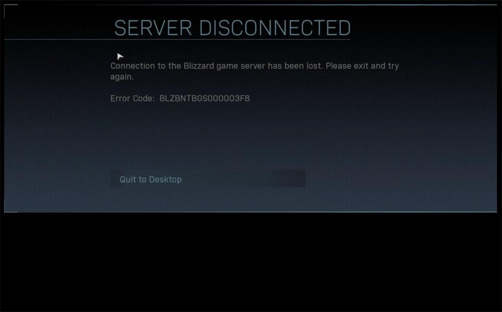 Blizzard Client Disconnected