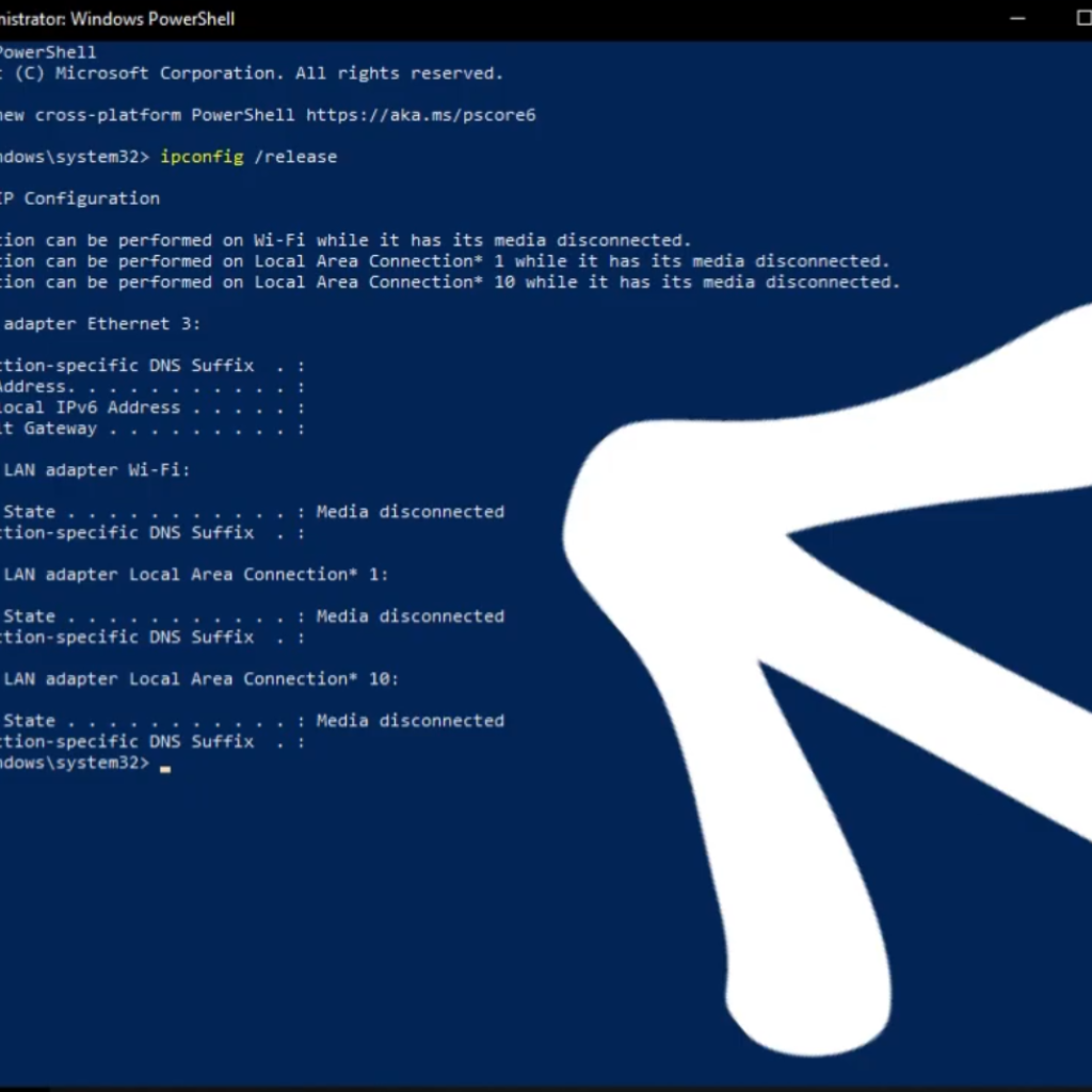 PowerShell Releases IP Config