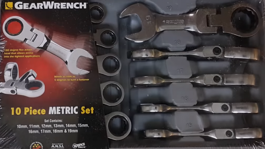 GearWrench Stubby Wrench Set - Metric