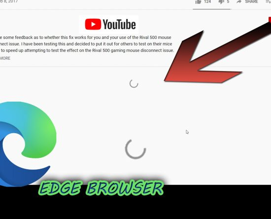 Youtube Comments Won't Load In Edge Browser