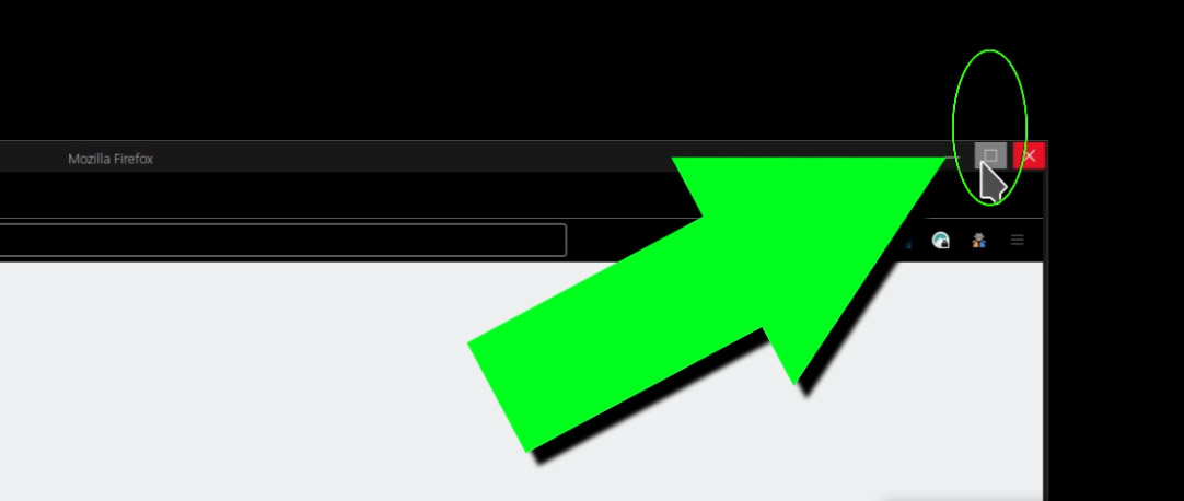 Press Mouse Middle Click Button On The Maximize/Restore Browser Icon